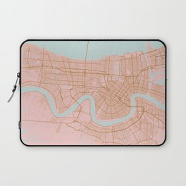New Orleans map, Lousiana Laptop Sleeve