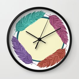 Ring 'o Feathers Wall Clock