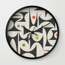 MCM Geometric Pattern 01 Wall Clock