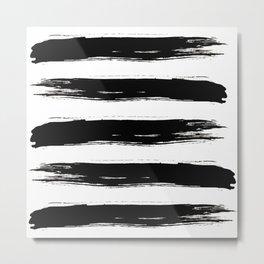 Bold Ink Brushstrokes Metal Print