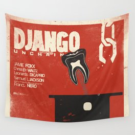 Django Unchained, Quentin Tarantino, alternative movie poster, Leonardo DiCaprio, Jamie Foxx Wall Tapestry