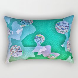 Frozen Ivy Berries. Rectangular Pillow