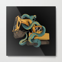 Excavator vs Anaconda Metal Print