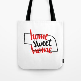 Home Sweet Home Nebraska Tote Bag