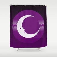 luna Shower Curtains featuring Luna by tuditees