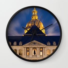 the Hotel of the invalids in Paris Wall Clock