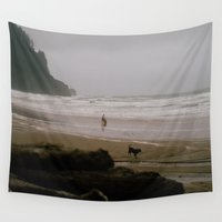 oregon Wall Tapestries featuring Oregon Coast: I // Oregon by Corrie Mick