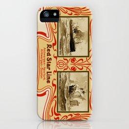 Red Star Line Antwerp New York ocean liners iPhone Case