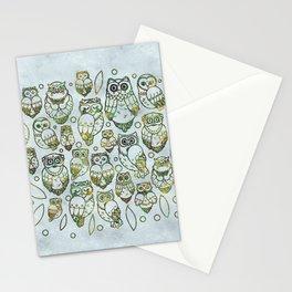 Decorative Owls Stationery Cards