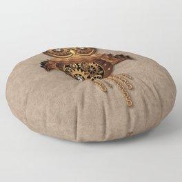 Steampunk Owl Vintage Style Floor Pillow