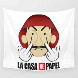 La casa de Papel Money Heist Fuck you Wall Tapestry
