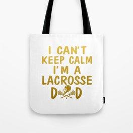 I'M A LACROSSE DAD Tote Bag