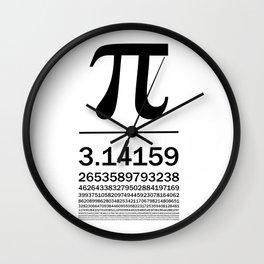Pi Typography Art Wall Clock