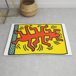 Growing Inspired to Keith Haring Rug