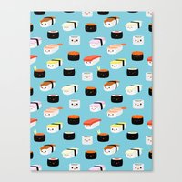sushi Canvas Prints featuring Sushi! by Sara Showalter