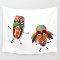 africa Wall Tapestries featuring AFRICA by Rceeh