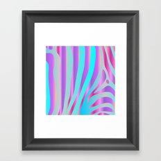 Iridescent Zebra Framed Art Print