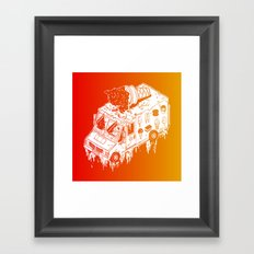 Melty Ice Cream Truck - sherbet Framed Art Print