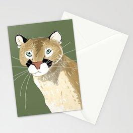 Feline cougar Stationery Cards