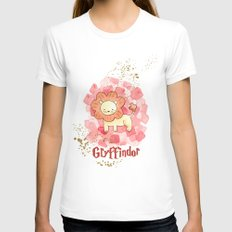 Gryffindor - H a r r y P o t t e r inspired MEDIUM White Womens Fitted Tee
