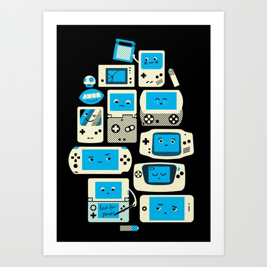 AXOR Heroes - Love For Handhelds Art Print