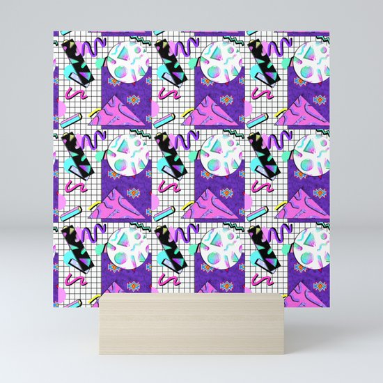 Trapper Keeper 80s Crazy Grid Design by melisssne