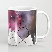 outer space Mugs featuring Outer Space by FlurinaJT