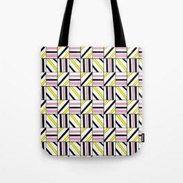 symetric tartan and gingham 2 -vichy, gingham,strip,square,geometric, sober,tartan Tote Bag
