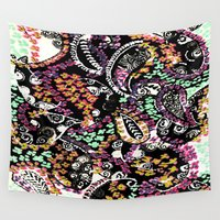 paisley Wall Tapestries featuring PAISLEY by  Ray Athi