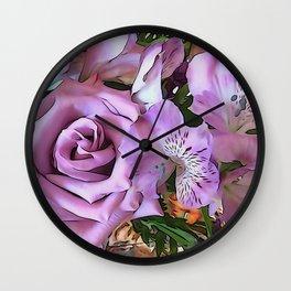 Lavender Pretty Wall Clock