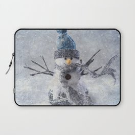 Cute snowman frozen freeze Laptop Sleeve