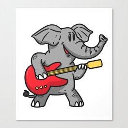 Guitar elephant Canvas Print