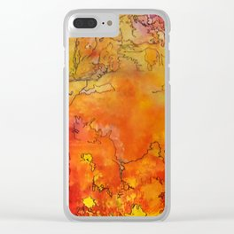 Yellow Dreams Clear iPhone Case