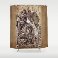 thranduil Shower Curtains featuring The Hobbit - Desolation of Smaug Art by Tatiana Anor