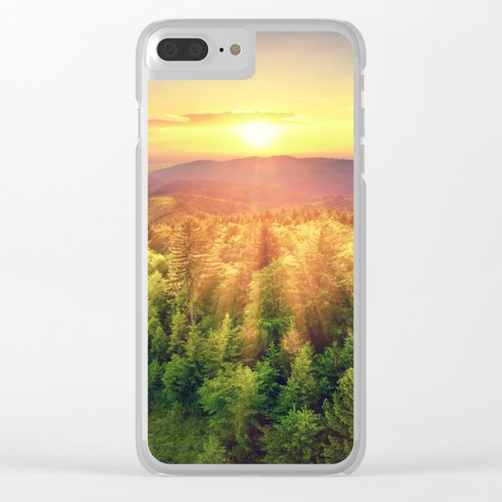 majestic sunrise Clear iPhone Case