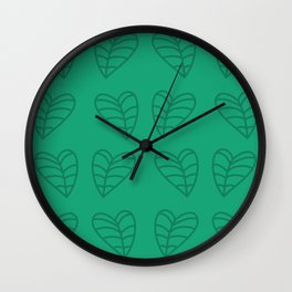 Taro Leaves Wall Clock