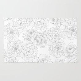 Peony Flower Pattern Rug