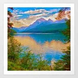 Bowman Lake Art Print