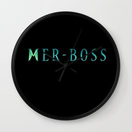 MER-BOSS Wall Clock