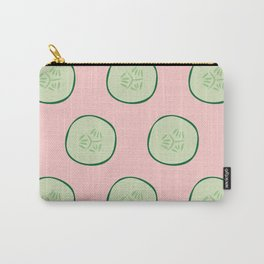 Bright Refreshing Summer Pink Cucumber Pattern Carry-All Pouch