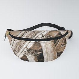 Ancient Roman Temple Nimes Provence France Sepia Fanny Pack