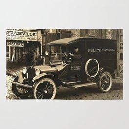 Vintage Police Car Rug