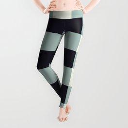 Mountain Blue Grey Checkered Plaid Leggings