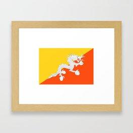 Bhutan Flag Framed Art Print