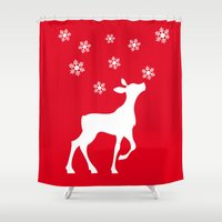 fawn Shower Curtains featuring fawn by Li-Bro
