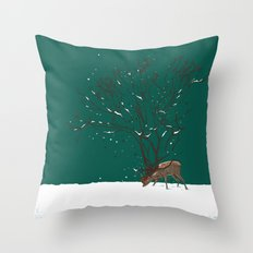 Winter Is All Over You Throw Pillow