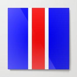 TEAM COLORS 10 ...RED,WHITE BLUE Metal Print