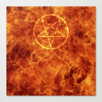 pentagram Canvas Prints featuring PENTAGRAM by JYELtheREAL-ADHDninja