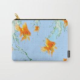 GOLDFISH AQUARIUM SPLASHING  WATER ART Carry-All Pouch