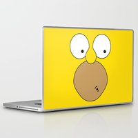 simpson Laptop & iPad Skins featuring Surprised Homer Simpson by julien tremeau